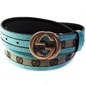 Gucci Women's Monogram Canvas GG Belt